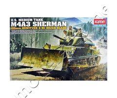 U.S. Medium Tank M4A3 Sherman (105mm Howitzer & M1 Dozer Blade)