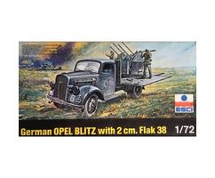 German Truck Opel Blitz with A.A. Flak 38