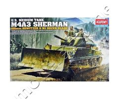 U.S. Medium Tank M4A3 Sherman (105mm Howitzer & M1 Dozer Blade)