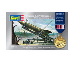 German A4 (V2) Missile & trailer & launching pad
