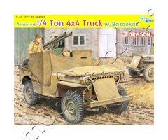 Armored 1/4 ton 4x4 Truck w/Bazookas