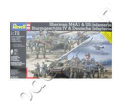 Sherman M4A1 & US-Infanterie / Sturmgeschütz IV & Deutsche Infanterie