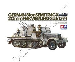 German 8 ton semitrack 20mm FLAKVIERLING Sd.Kfz.7/1