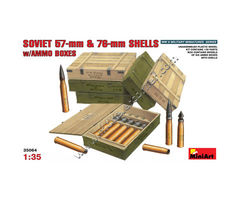 Soviet 57-mm and 76-mm Shells with ammo boxes