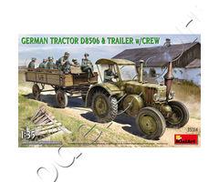 GERMAN TRACTOR D8506 & TRAILER w/CREW
